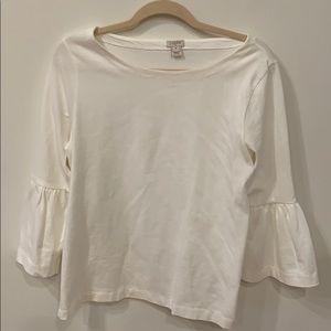 JCrew cotton bell sleeved shirt